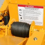 Hydraulic Winch will accept cable or rope. Winch includes freewheel capability.